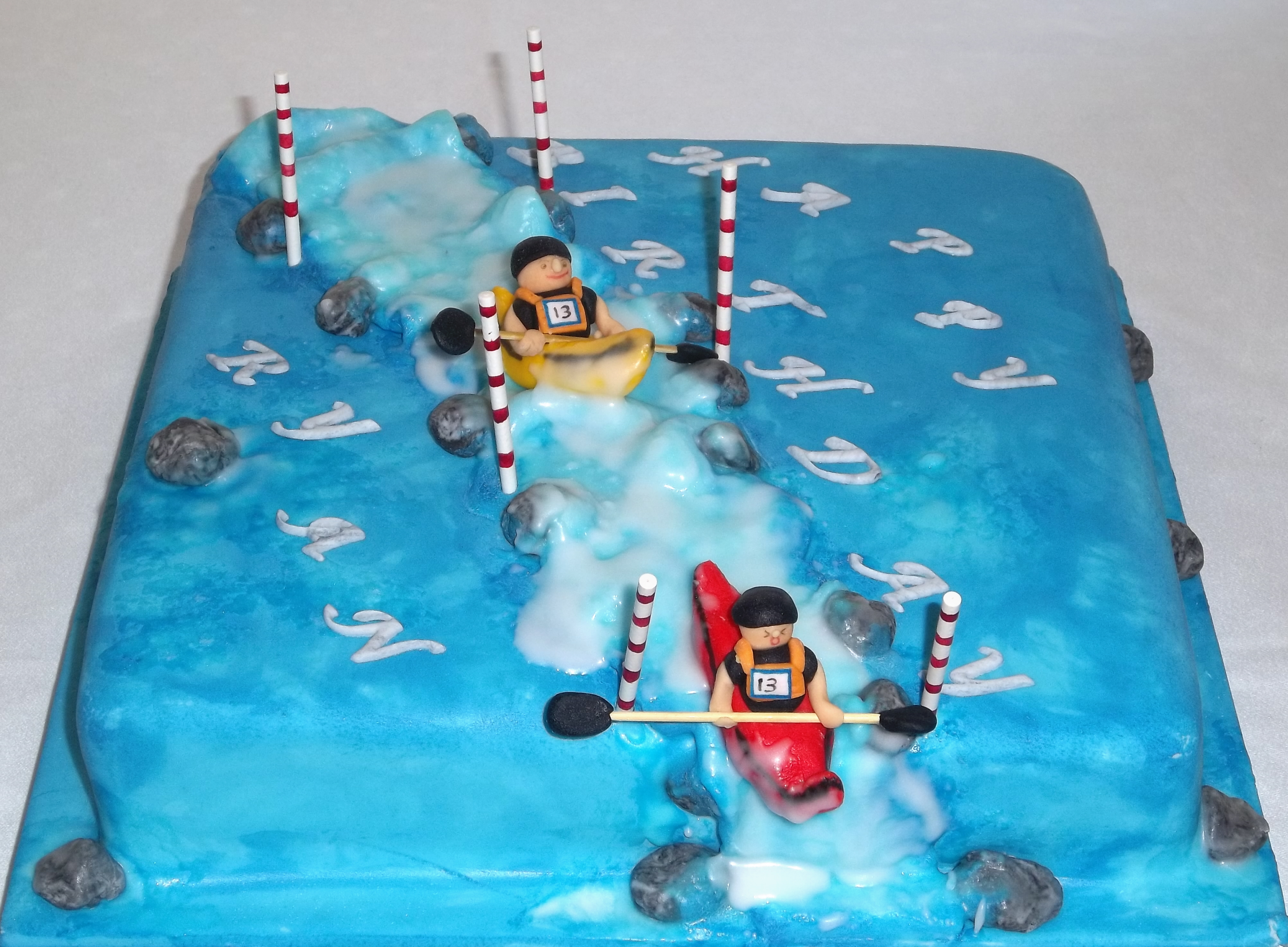 Kayak cake topper wedding