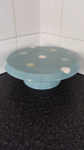 Ceramic blue with polka dots